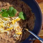 refried beans in bowl