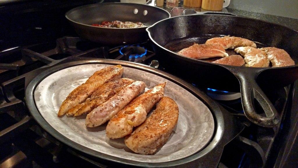 chicken on a platter