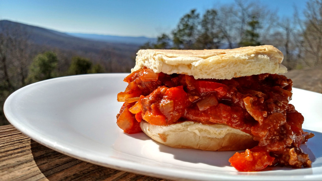 sloppy joe sandwich on plate
