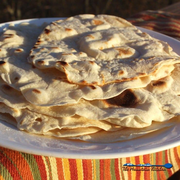 homemade flour tortillas on plate