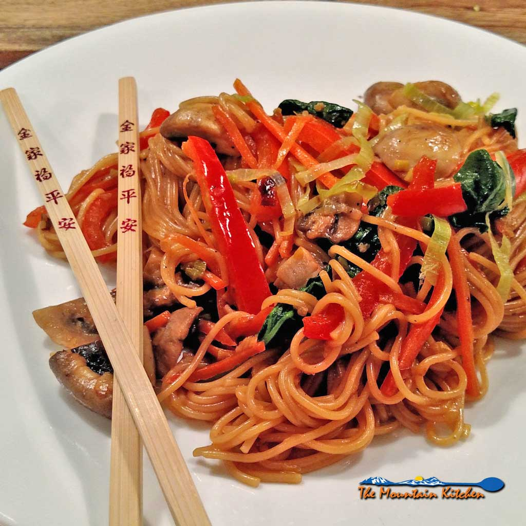 Make this quick easy and delicious fake lo mein in your kitchen in less than 30 minutes. Healthier than take out without sacrificing flavor.