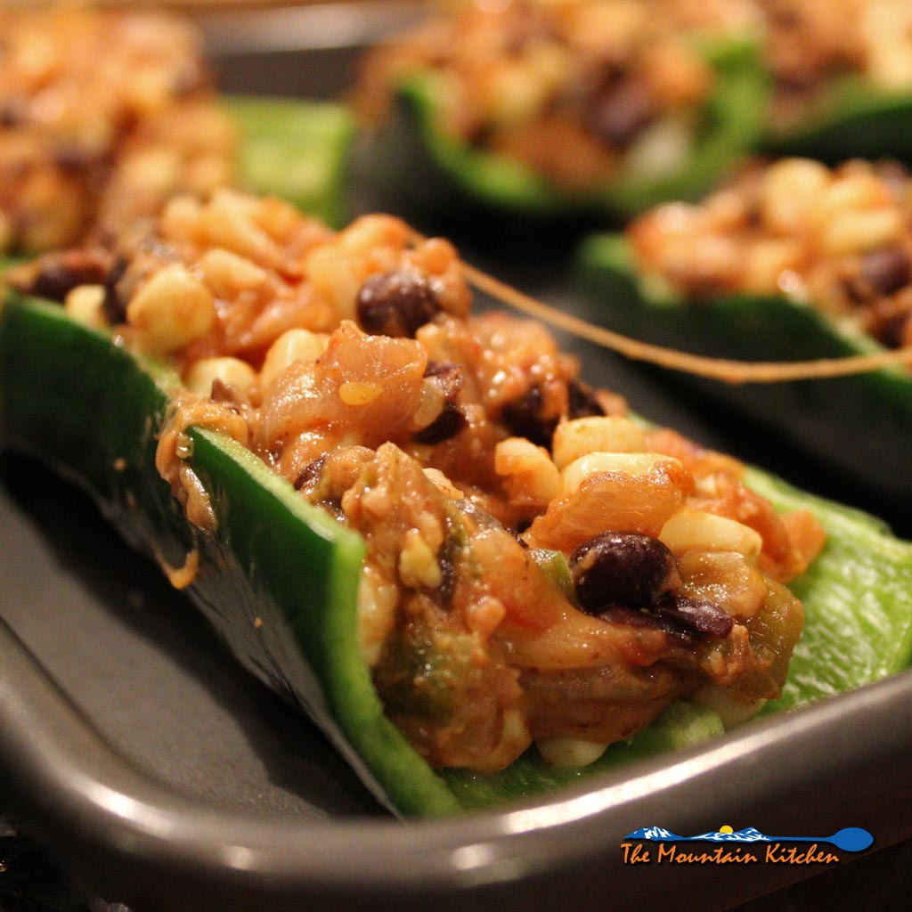 Stuffed Poblano Peppers {A Meatless Monday Recipe