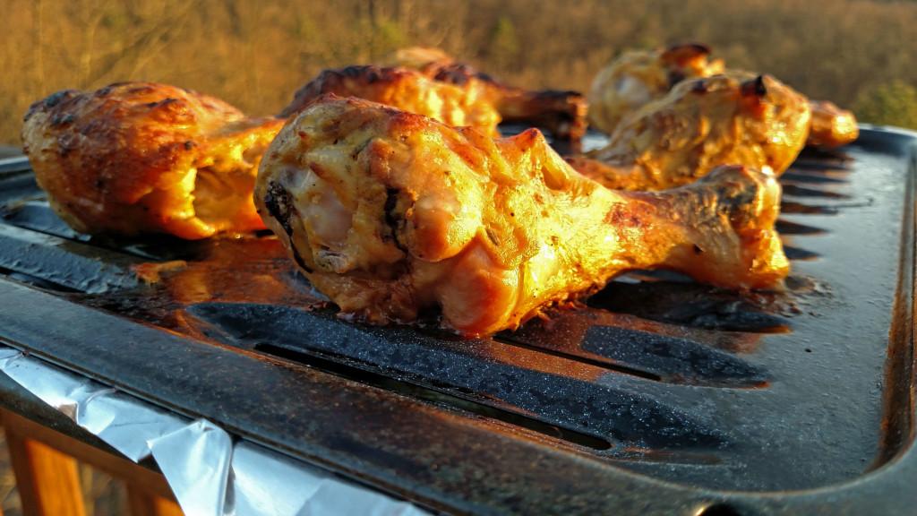 zesty chicken on broiler pan