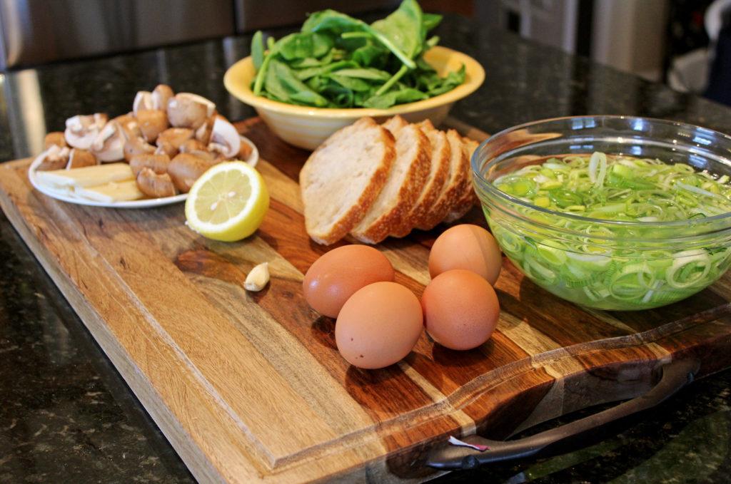 ingredients to make recipe on cutting board