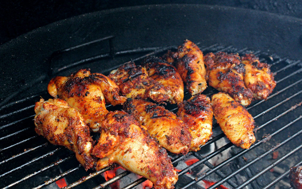 chicken wings grilling
