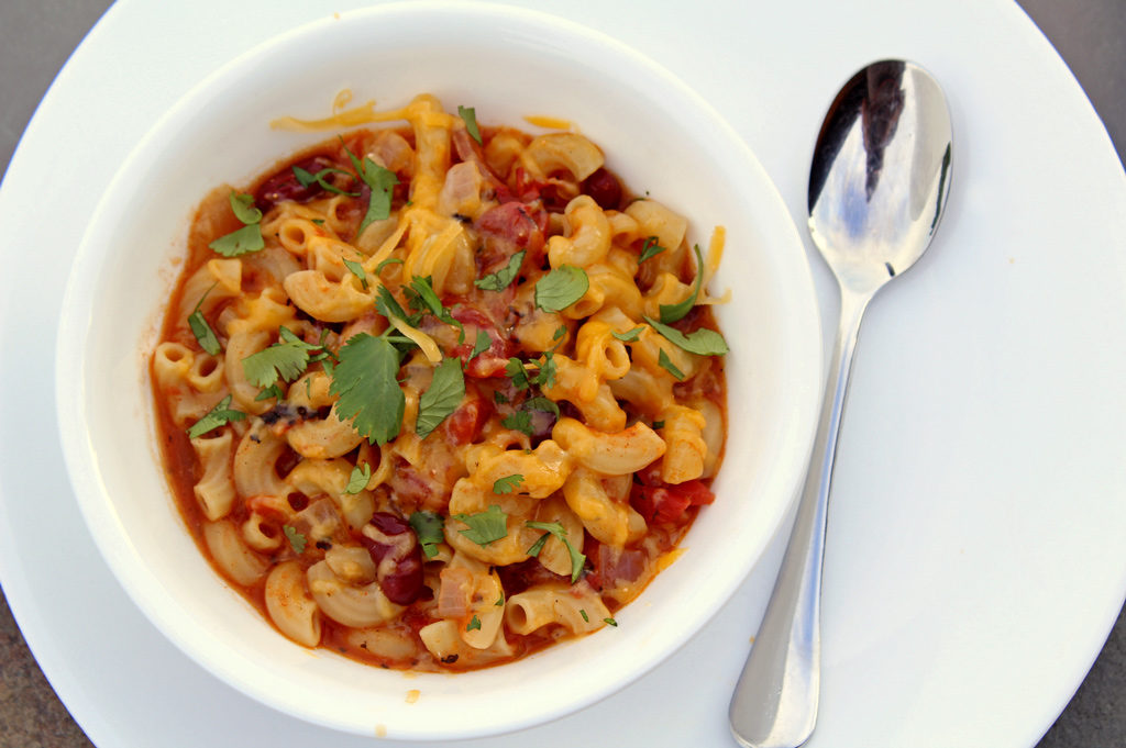 Cajun Chili Mac in bowl