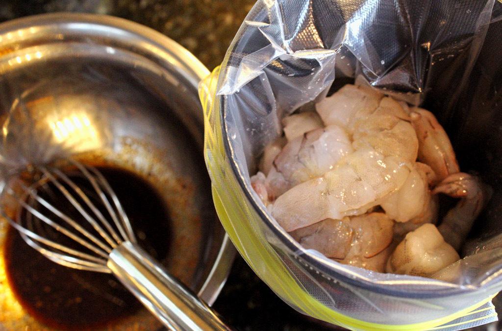 shrimp ready to marinate