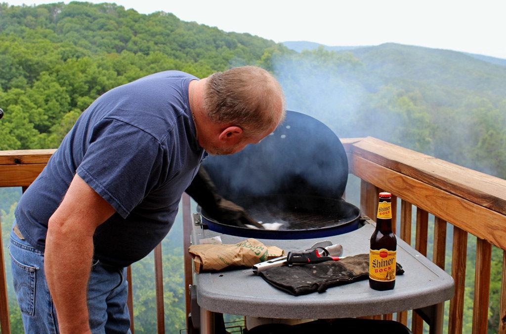 David grilling on deck