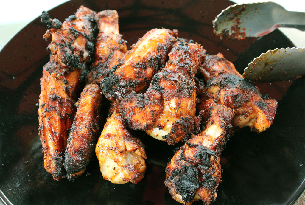 Grilled Cajun Chicken Wings With White BBQ Dipping Sauce | A Cajun spice rub gives these crust layered wings and drumettes an earthy and herbal flavor, with added smokiness from the grill, while the delicious and unique white bbq dipping sauce provides a tangy blend of creamy mayonnaise, tangy vinegar and fresh lemon juice and just a touch heat. | TheMountainKitchen.com