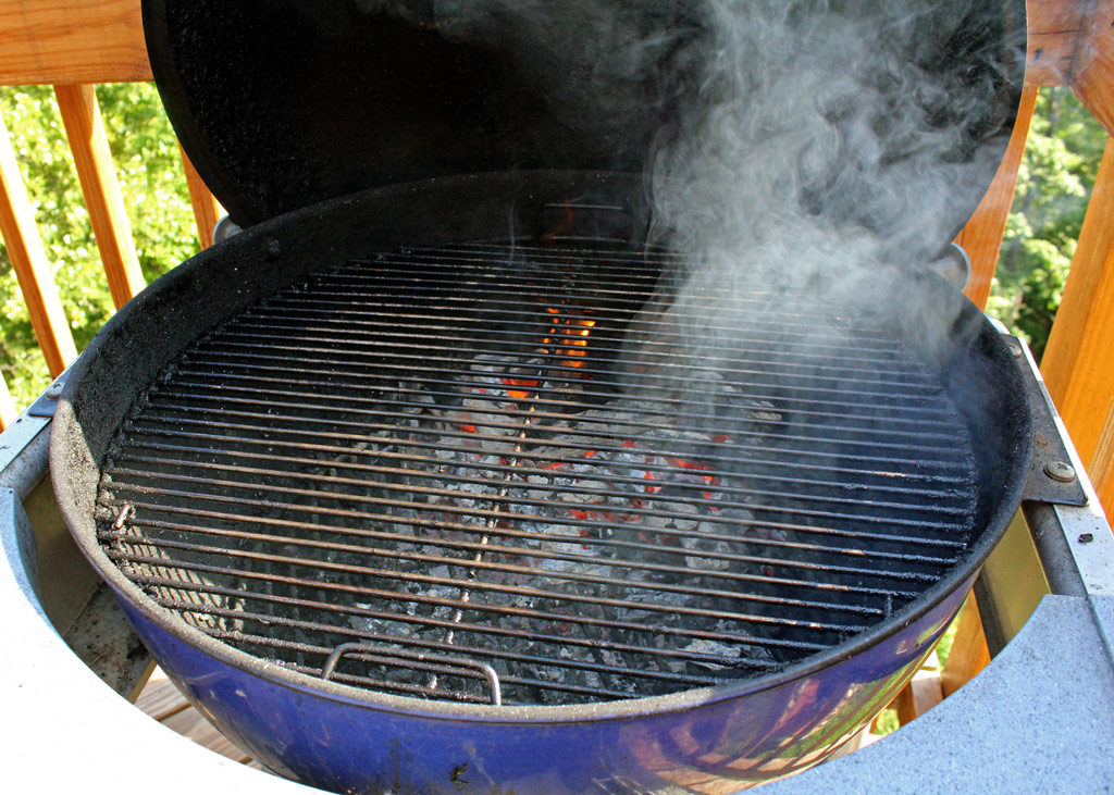 hot charcoal grill