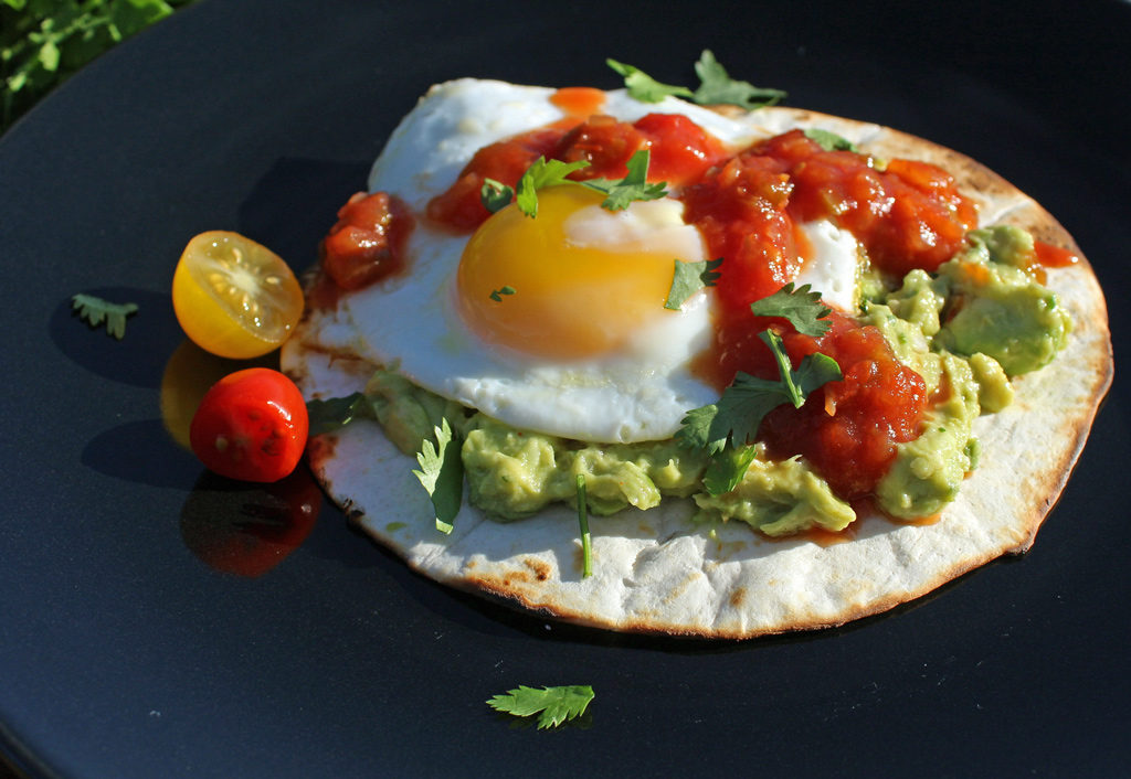 Mexican Breakfast Pizza on plate