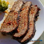 This Texas inspired, this Texas Style Brisket is coated in a flavorful, spicy rub and smoked for hours until so tender in nearly falls apart. | TheMountainKitchen.com