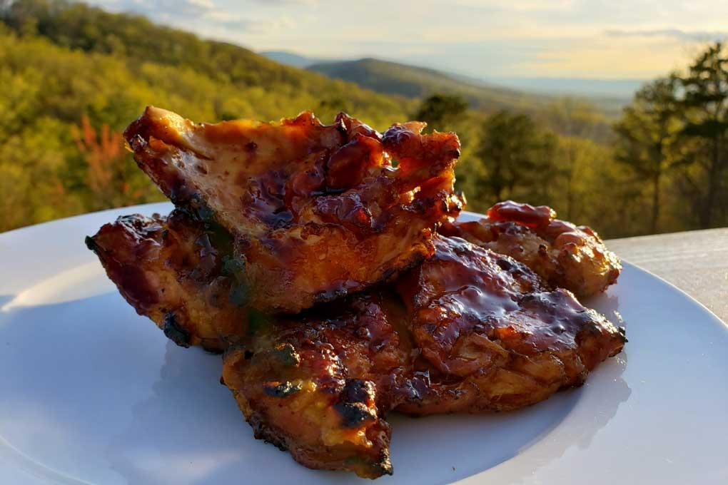 grilled teriyaki chicken thighs