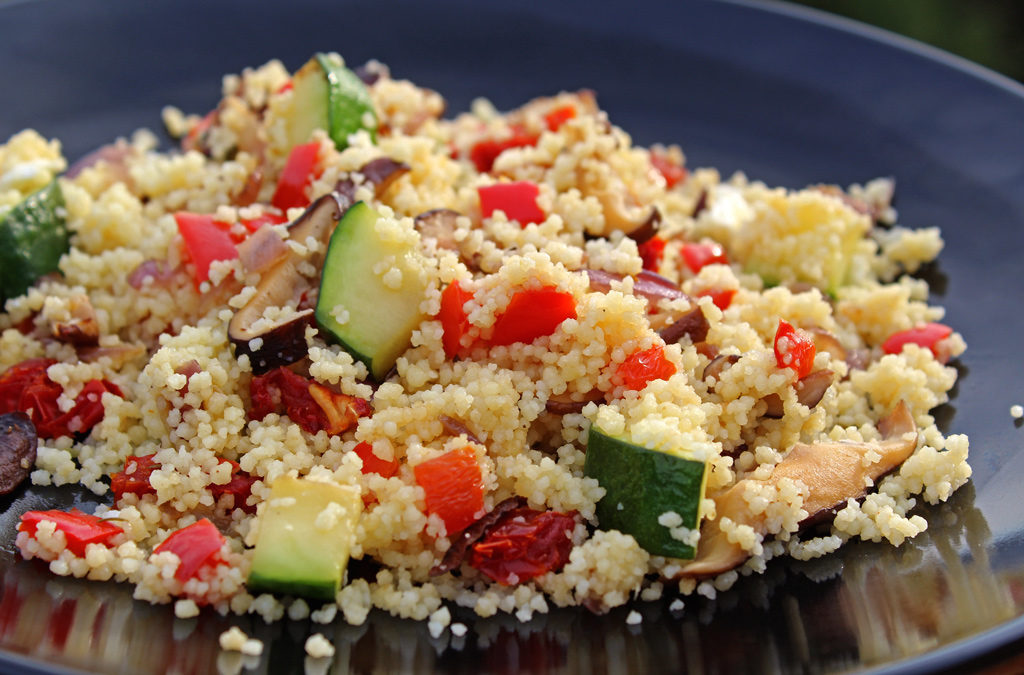 Summer Vegetable Couscous Salad on plate