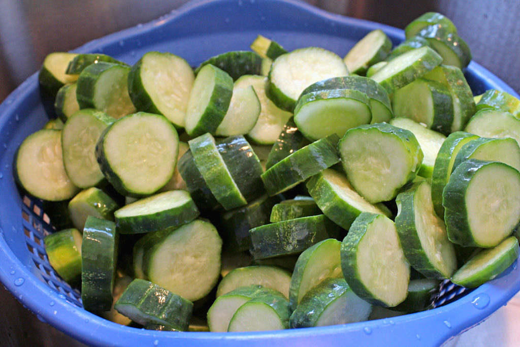 rinsed cucumbers