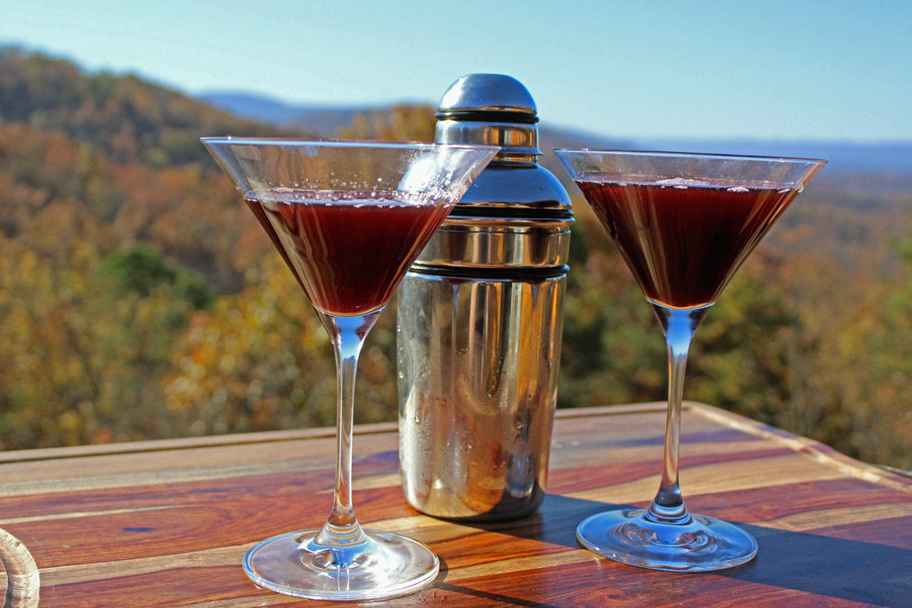 peanut butter and jelly martinis with drink shaker