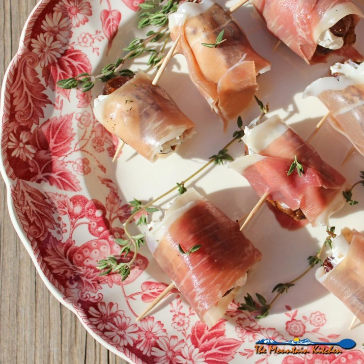 Prosciutto Wrapped Goat Cheese Stuffed Dates