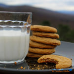 gingersnap cookies and a glass of milk