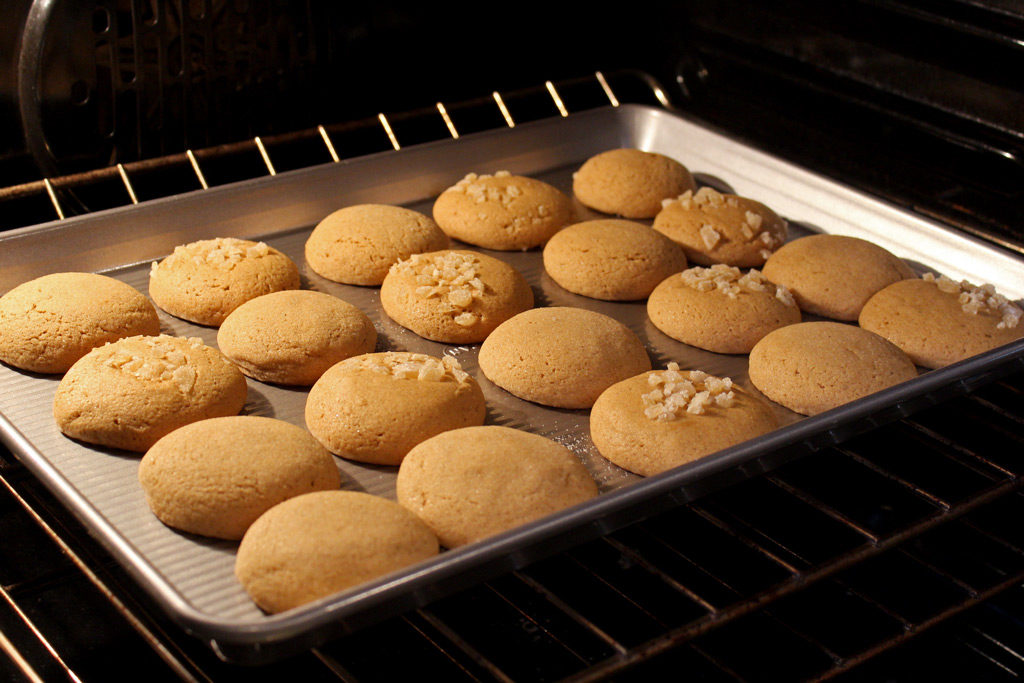 Highly addictive, Grandma's Gingersnap Cookies are rolled in sugar and/or candied ginger, with soft, chewy texture and warm flavors of cinnamon, and cloves.   TheMountainKitchen.com