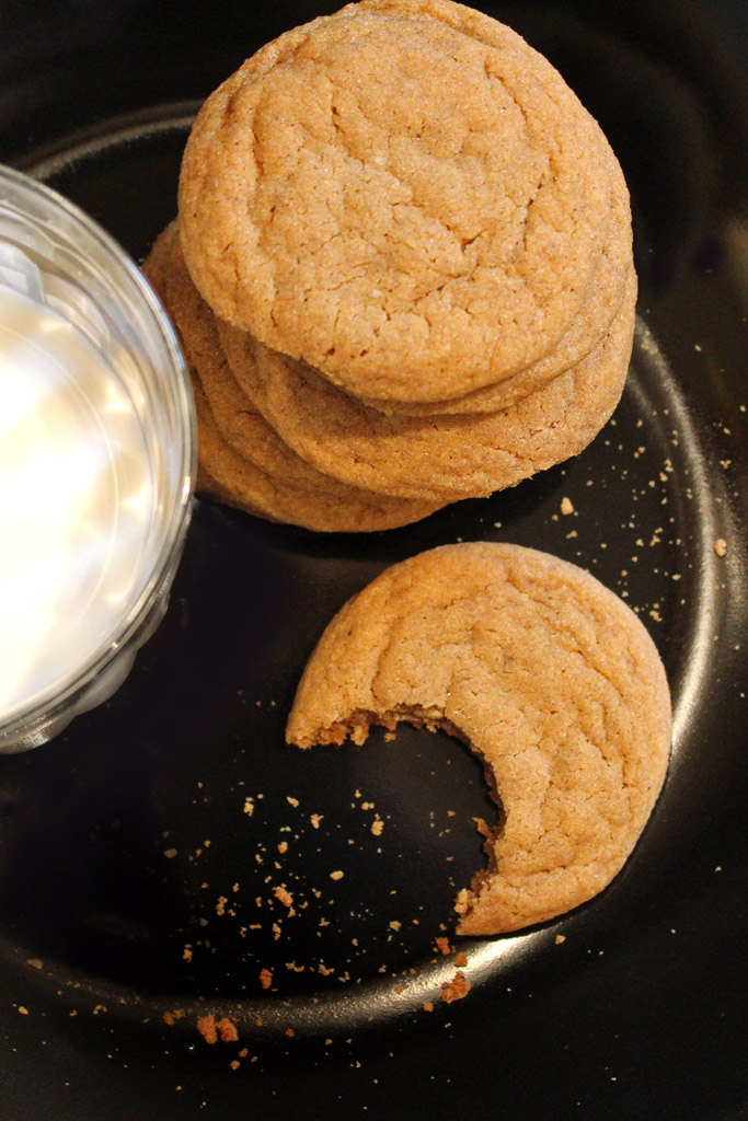 Highly addictive, Grandma's gingersnap cookies are rolled in sugar and/or candied ginger, with soft, chewy texture and warm flavors of cinnamon, and cloves.
