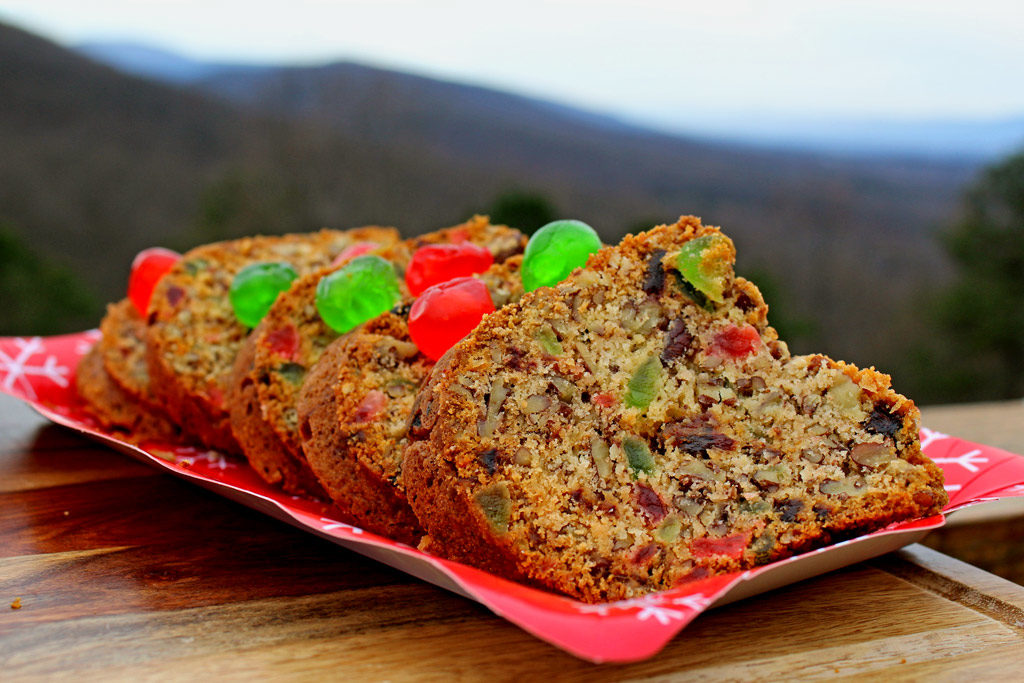 Mama's pecan fruitcake is a dense soft cake studded with pecans, dates and candied cherries. It's the best fruitcake ever!   TheMountainKitchen.com