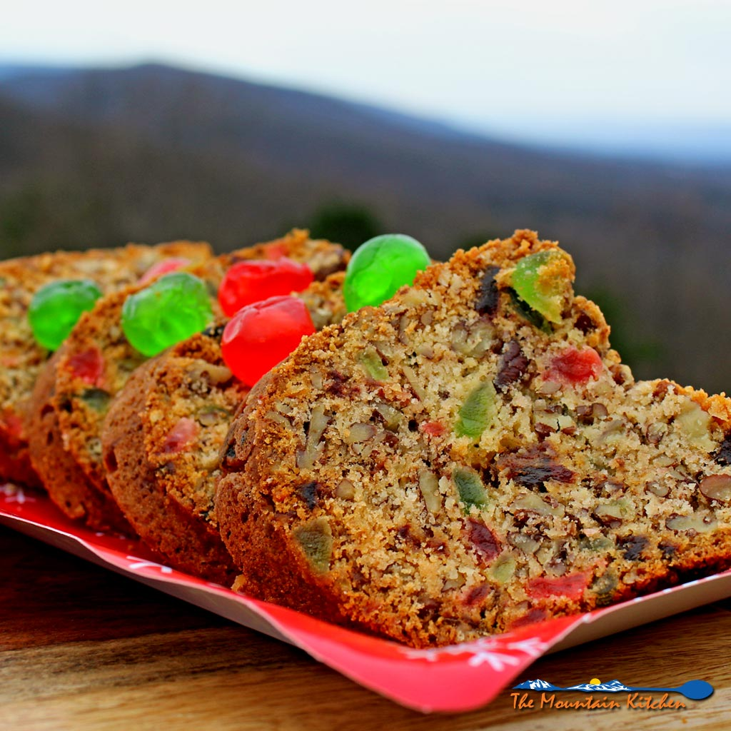 Mama's pecan fruitcake is a dense soft cake studded with pecans, dates and candied cherries. It's the best fruitcake ever!