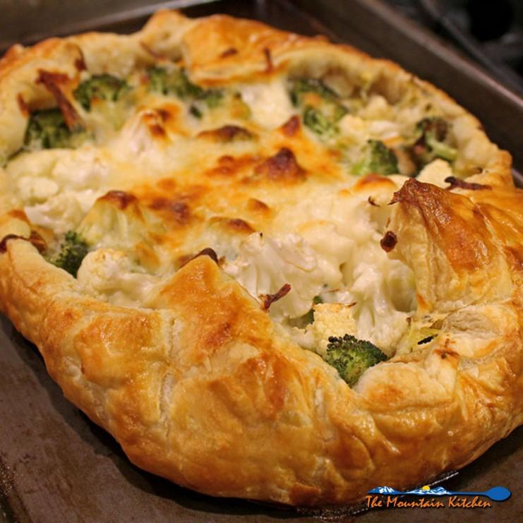 broccoli-cauliflower galette