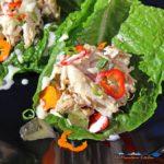 crock-pot chicken salad lettuce wraps
