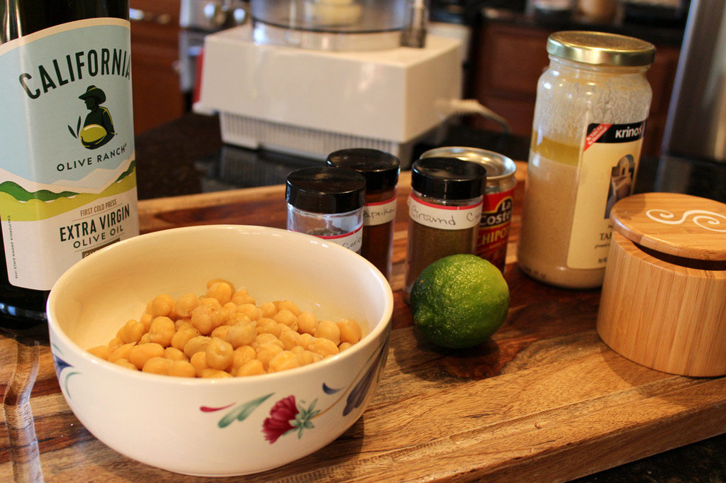ingredients to make hummus