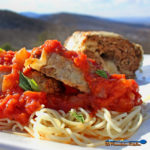 Italian Meatloaf with mountain view