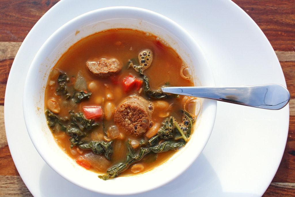 bowl of Spanish-Style White Bean Soup