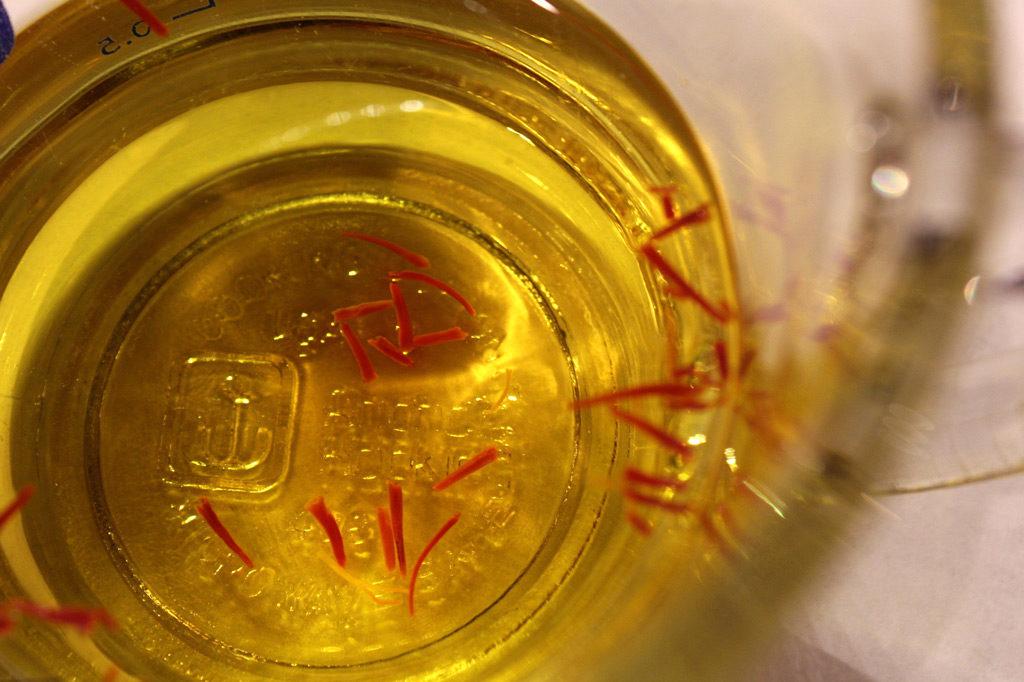 saffron steeping for Spanish-Style White Bean Soup