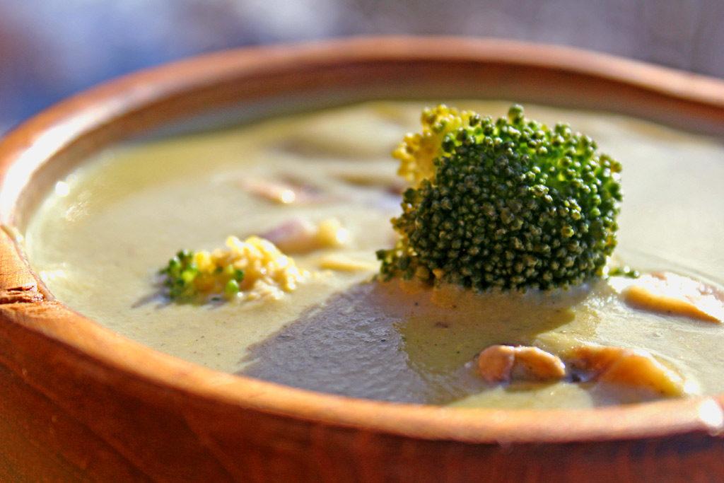bowl of broccoli potato soup