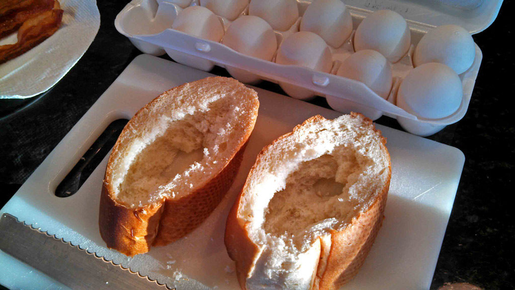 French bread with holes in it