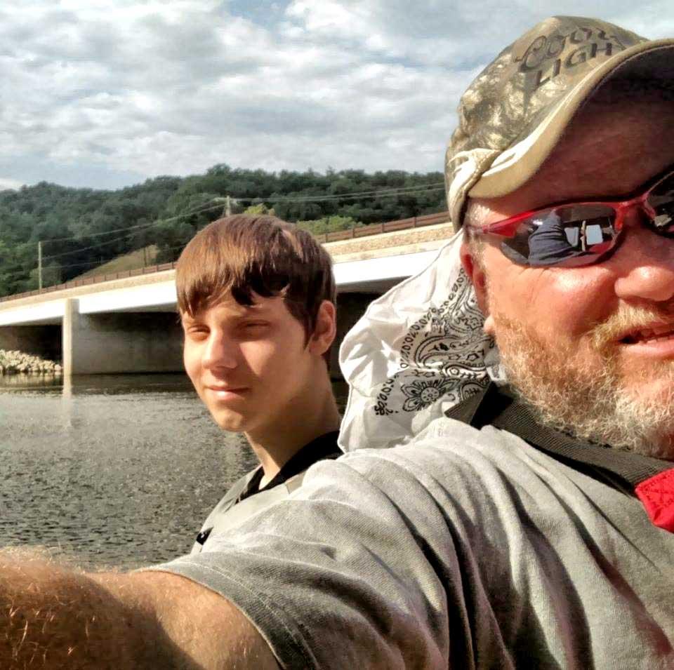 David and Seth fishing