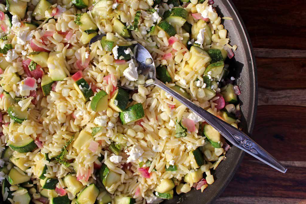 corn zucchini orzo salad