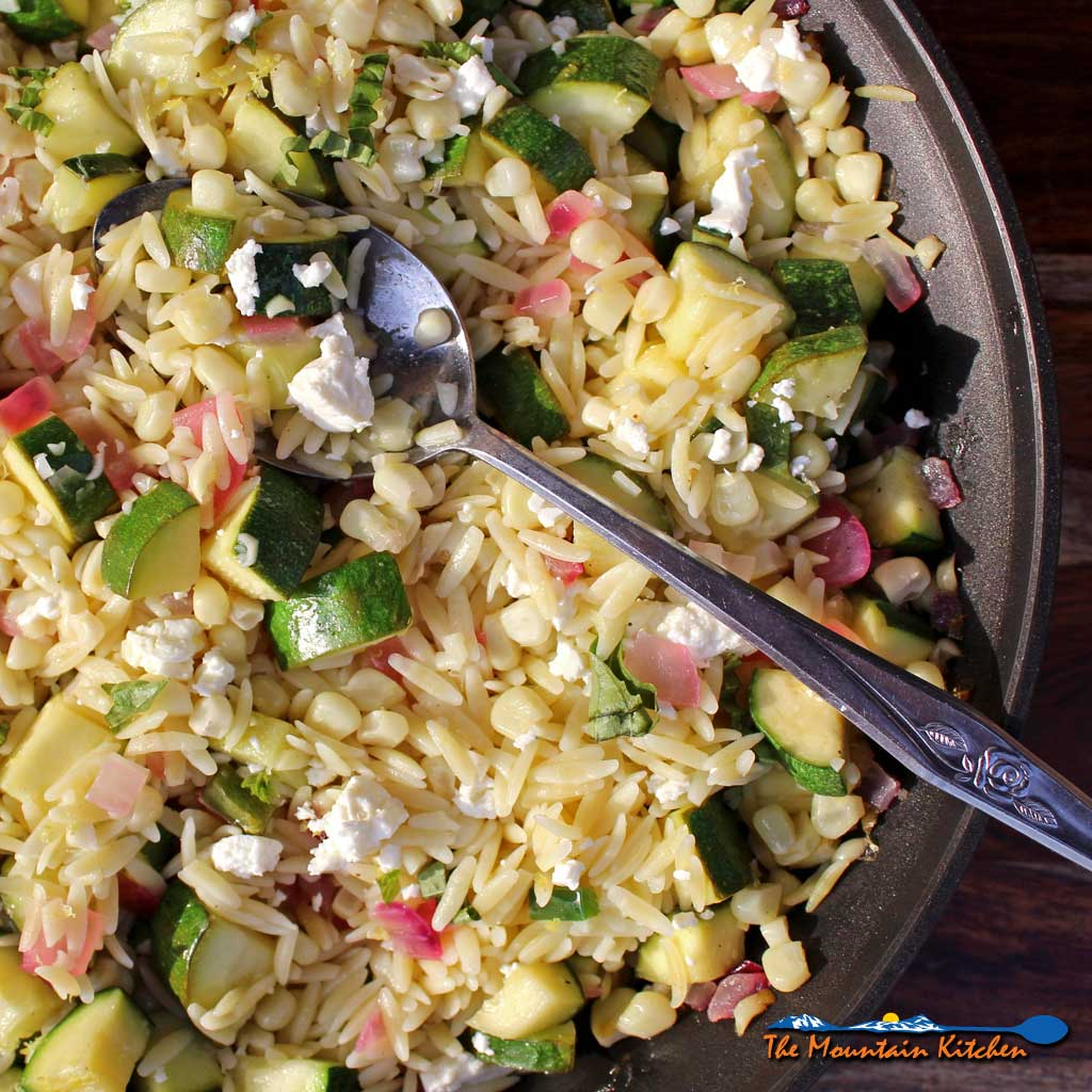 Corn Zucchini Orzo Salad {A Meatless Monday Recipe