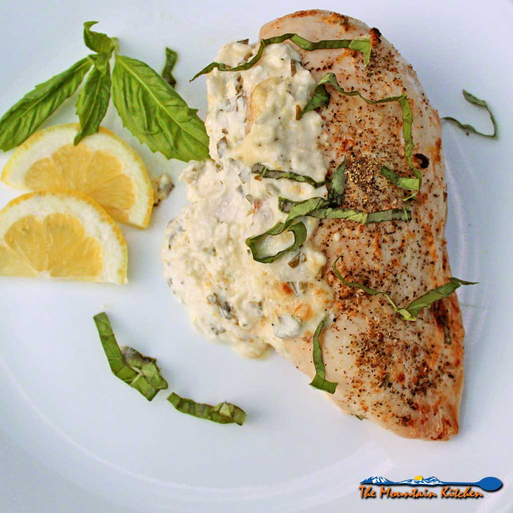 Feta Basil Lemon Chicken is made with a flavorful, tangy mixture of feta and cream cheeses, lemon,basil, and garlic.It's creamy and zippy with every bite!
