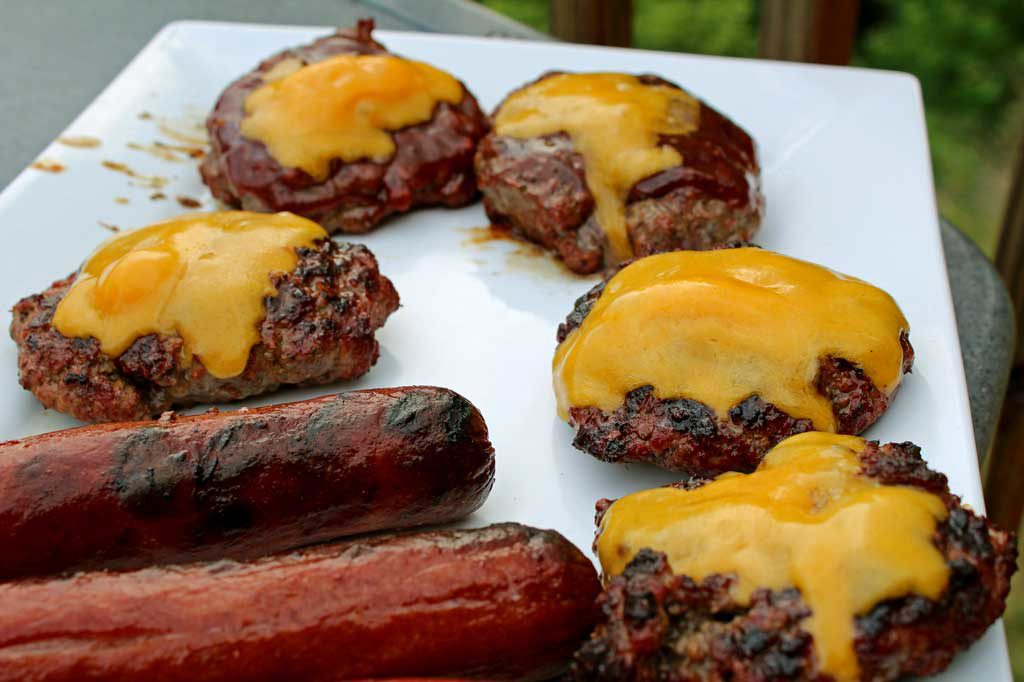 hamburgers and hot dogs ready to eat