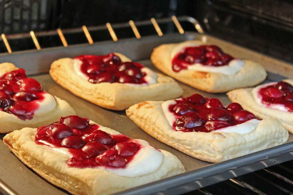 cherry  cream cheese danish baking