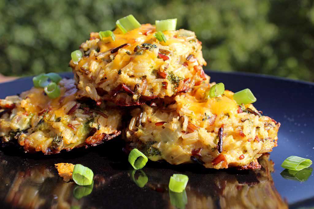 broccoli cheddar wild rice cakes