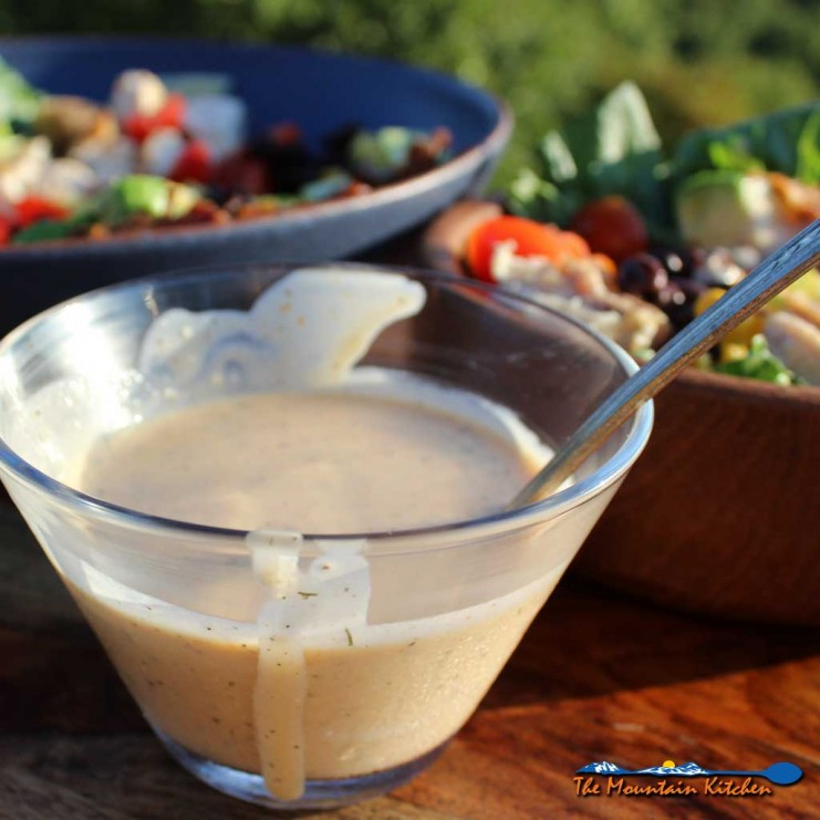 Incredibly good BBQ Ranch Dressing begins with creamy ranch dressing perfectly blended with tangy barbecue sauce, giving it asmoky, flavor-filled taste. | TheMountainKitchen.com