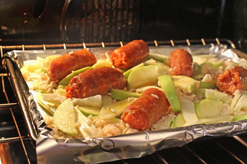 sheet pan baking in oven