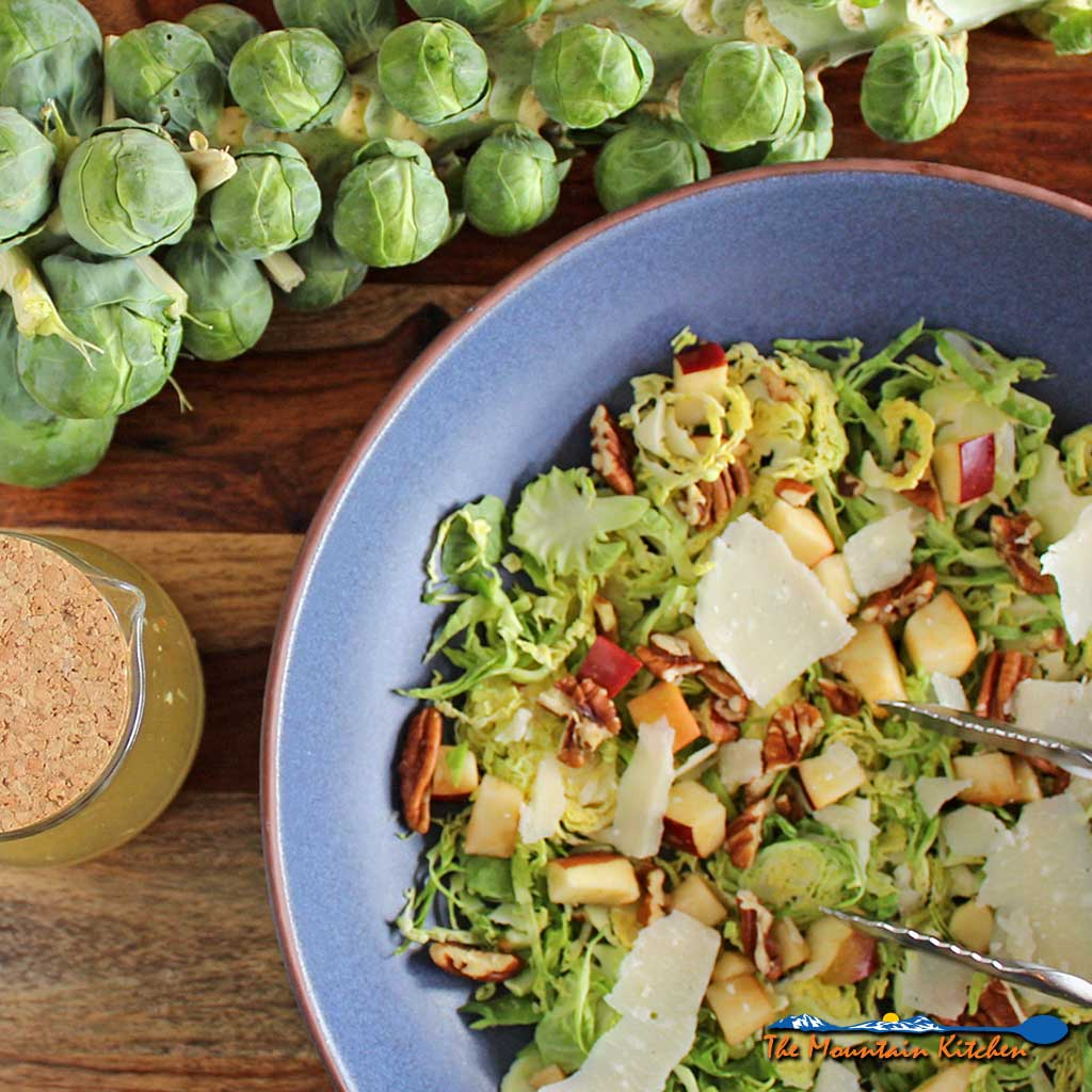 Apple Pecan Brussels Spout Salad