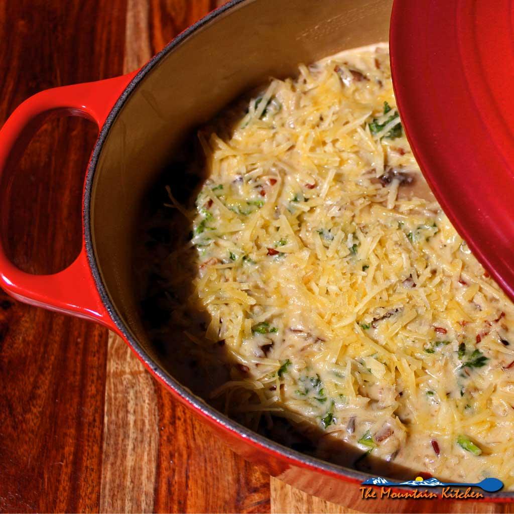 Kale Wild Rice and Mushroom Casserole {A Meatless Monday Recipe