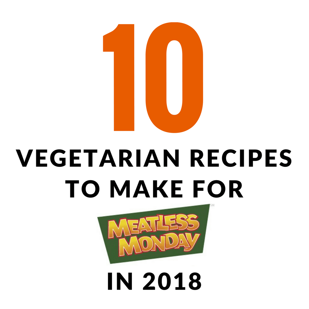 Are you are thinking about starting off 2018 by eating a little healthier? I am hoping with the help of these 10 vegetarian recipes I can convince you to go Meatless on Monday in 2018. Here are 10 vegetarian recipes to make for Meatless Monday in 2018! | TheMountainKitchen.com