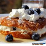 Blueberry Stuffed Croissant French Toast