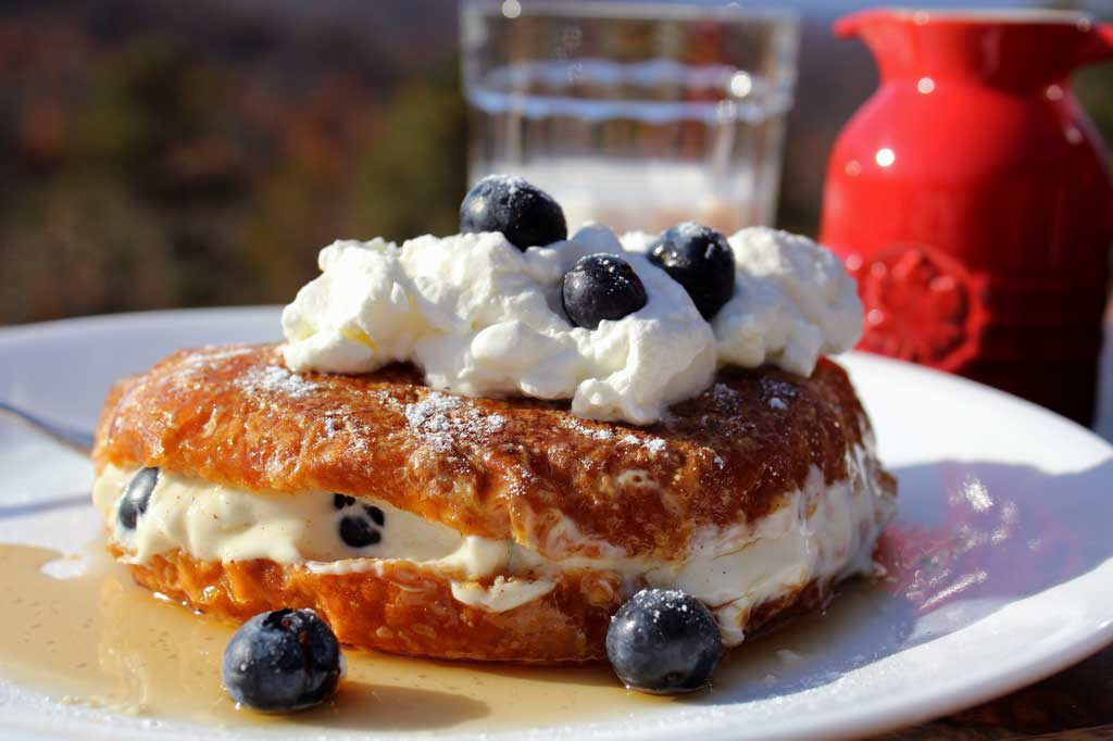 stuffed French toast on plate
