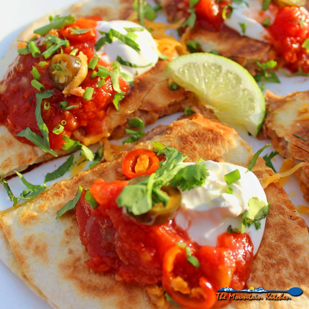 Refried Bean and Cheese Quesadillas {A Meatless Monday Recipe