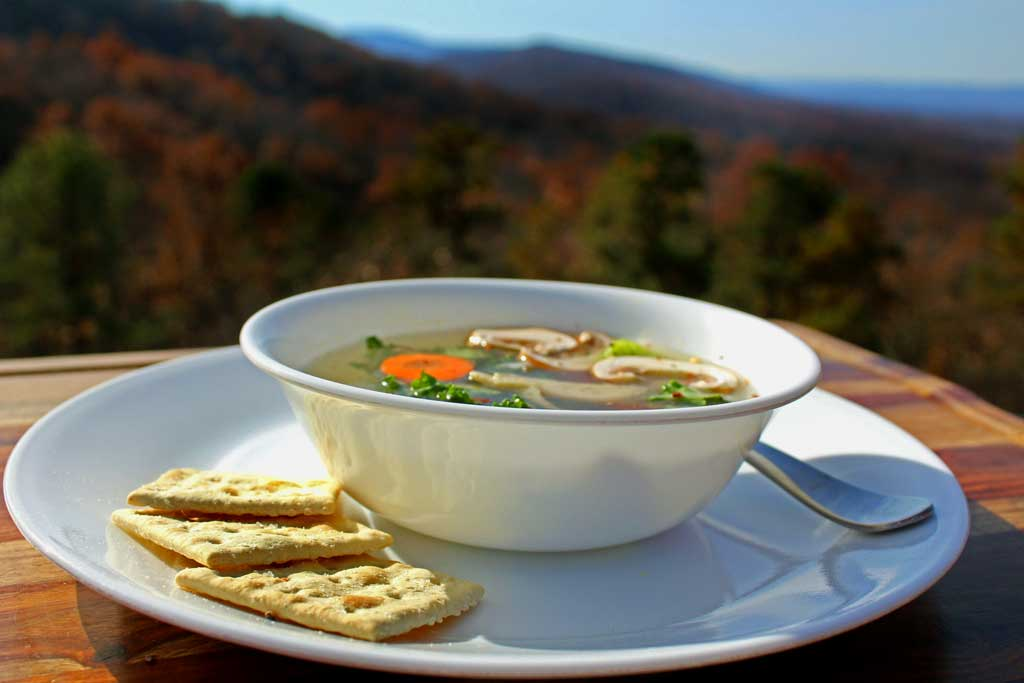 Immunity soup is brimming to the top of the bowl with nutrients and antioxidants that will help boost your immune system while keeping you healthy and warm this winter. | TheMountainKitchen.com
